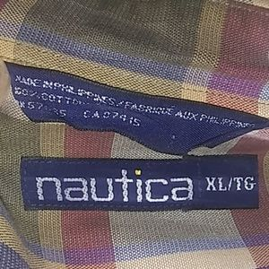 Big and tall Plaid nautica button down shirt
